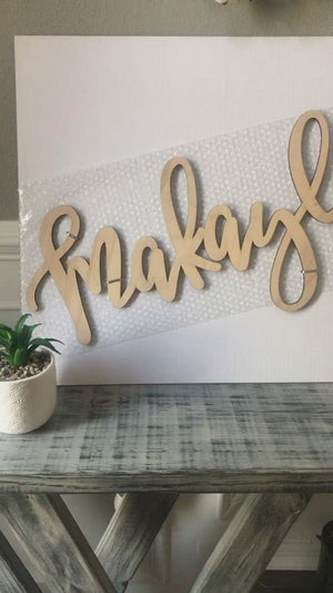 Personalized Name Sign, Premium Birch Wood