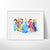 Disney Princesses Watercolor Art Print Art Print - VIVIDEDITIONS