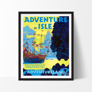 Adventure Isle, Disneyland Poster Art Print - VIVIDEDITIONS