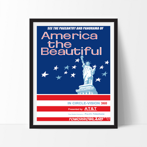 America the Beautiful, Disneyland Poster Art Print - VIVIDEDITIONS