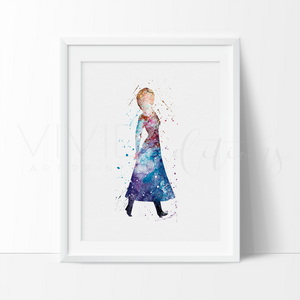 Anna, Frozen Watercolor Art Print Art Print - VIVIDEDITIONS