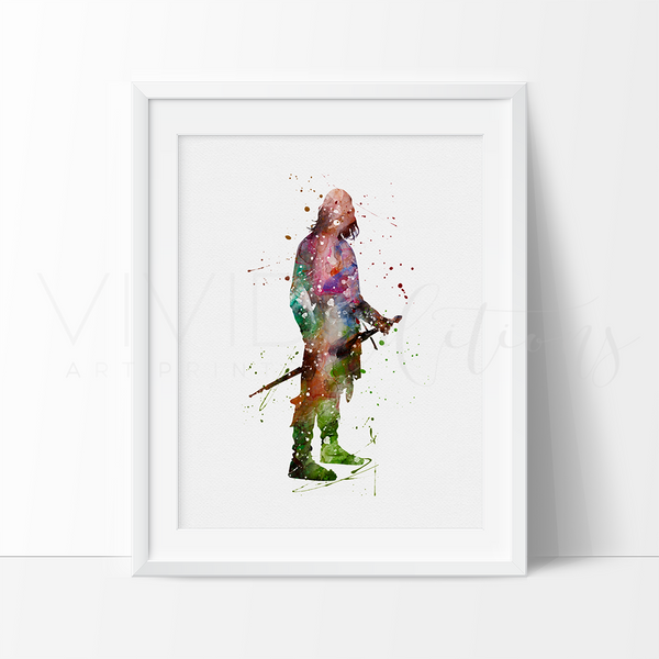 Aragorn, Lord of the Rings Watercolor Art Print Art Print - VIVIDEDITIONS
