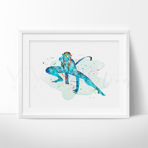 Avatar, James Cameron Watercolor Art Print Art Print - VIVIDEDITIONS