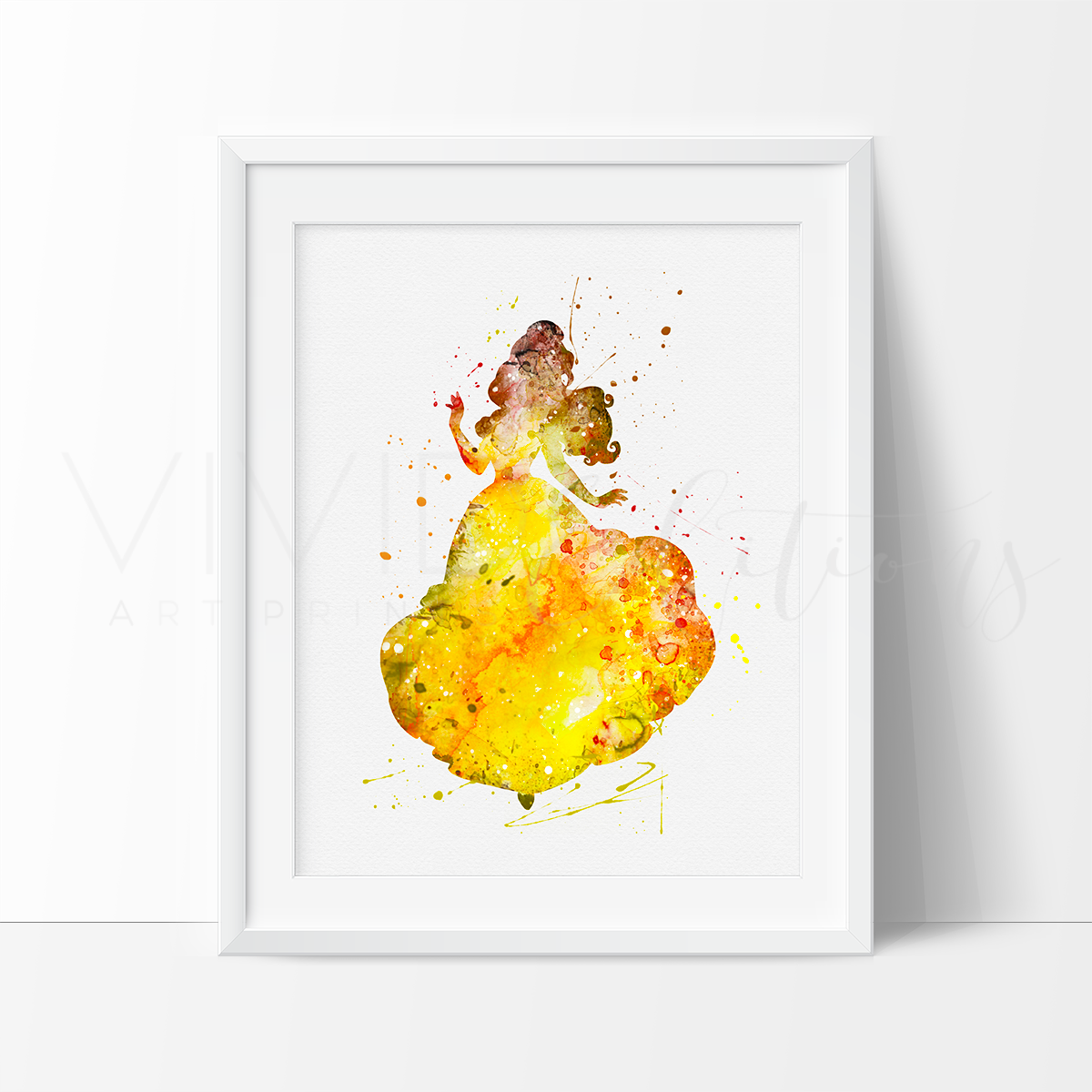 Belle Beauty and The Beast Disney Princess Nursery Art Print Wall ...