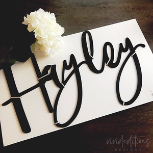 "24"" Black Acrylic Medium Personalized Name Sign Art Print - VIVIDEDITIONS"