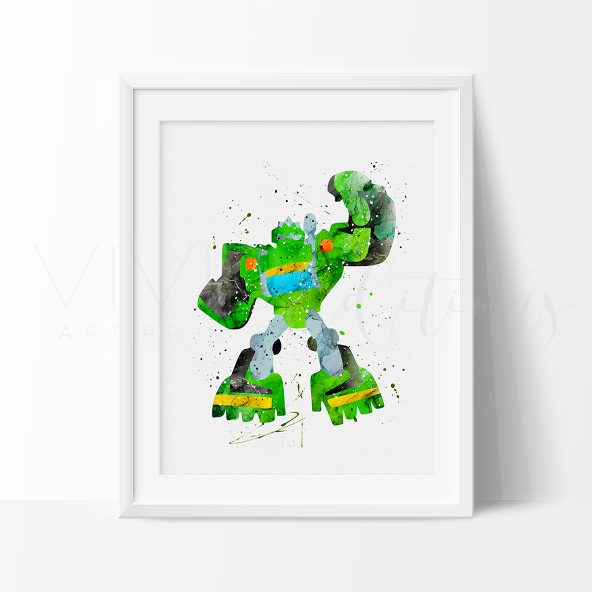 Boulder, Transformers Watercolor Art Print Art Print - VIVIDEDITIONS