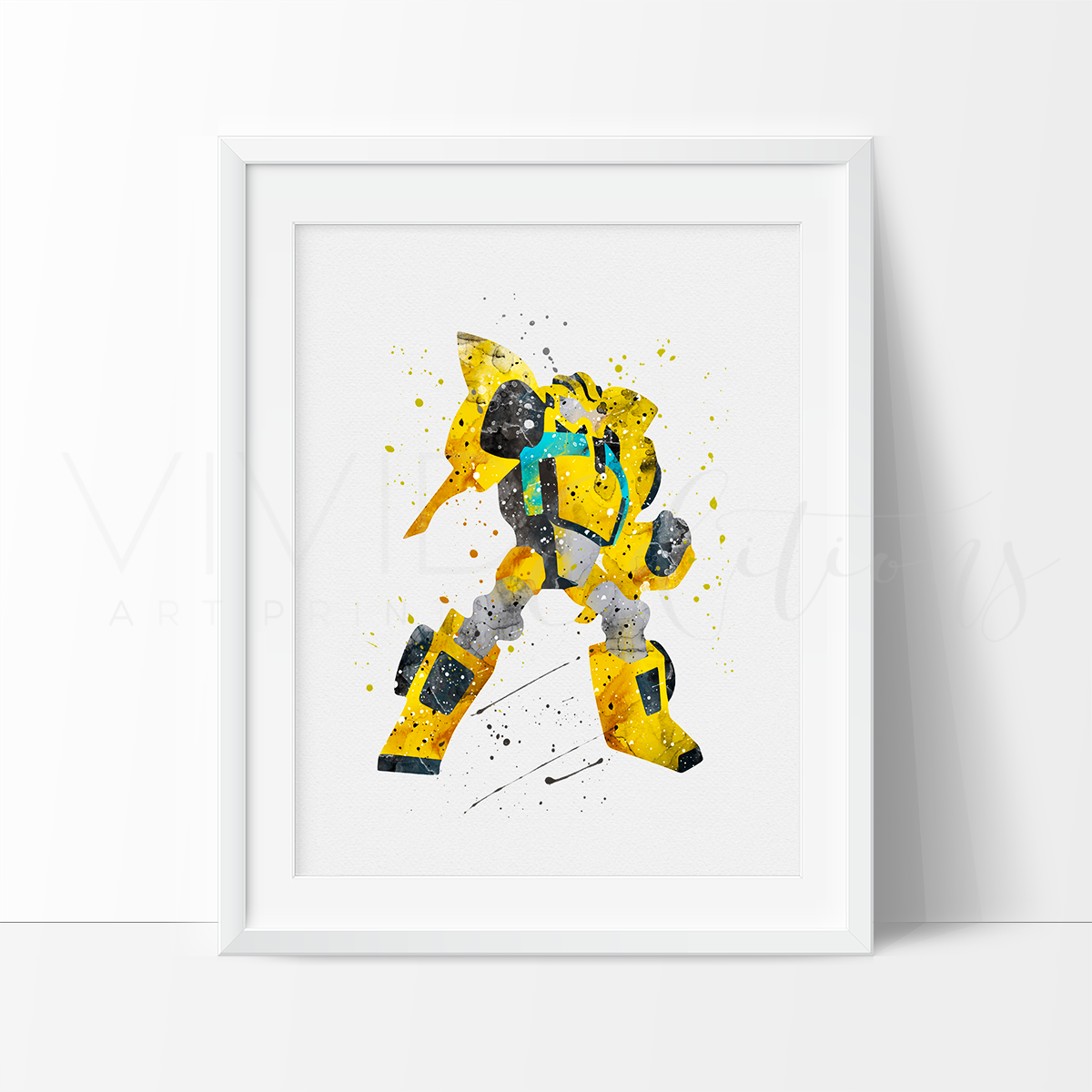 Bumblebee, Transformers Watercolor Art Print Art Print - VIVIDEDITIONS