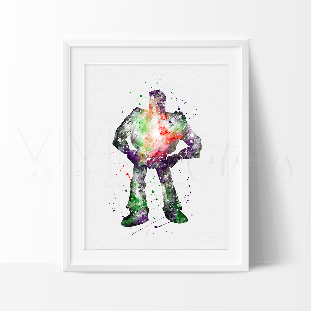 Buzz Lightyear, Toy Story Watercolor Art Print Art Print - VIVIDEDITIONS