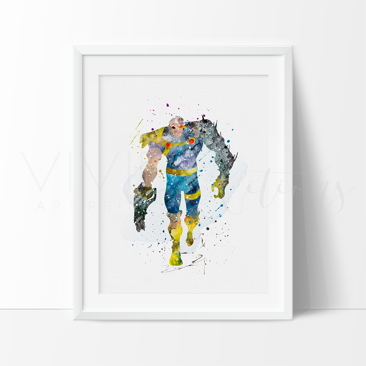 Cable Watercolor Art Print Art Print - VIVIDEDITIONS