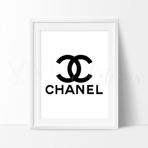 Coco Chanel Monogram 5 Watercolor Art Print Art Print - VIVIDEDITIONS