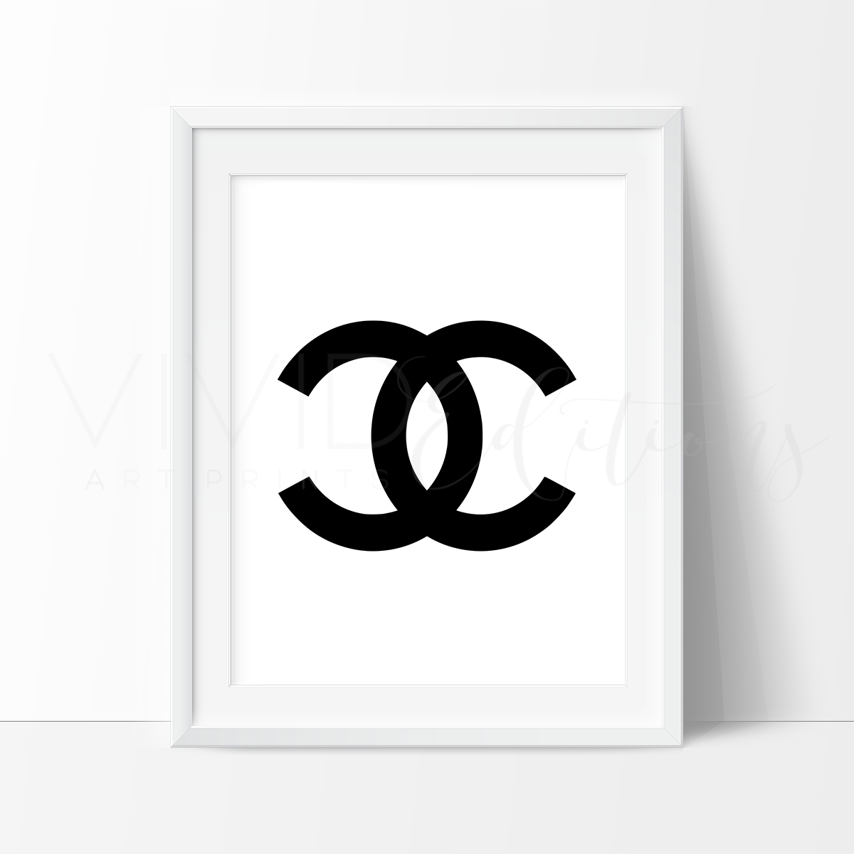 Coco Chanel Monogram 4 Watercolor Art Print Art Print - VIVIDEDITIONS
