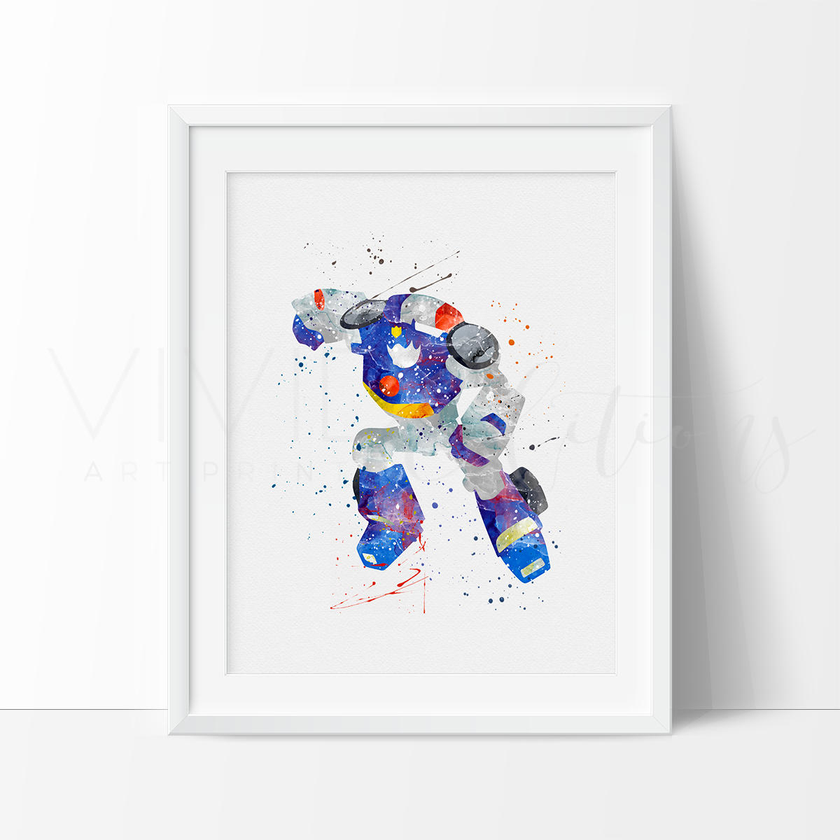 Chase, Transformers Watercolor Art Print Art Print - VIVIDEDITIONS