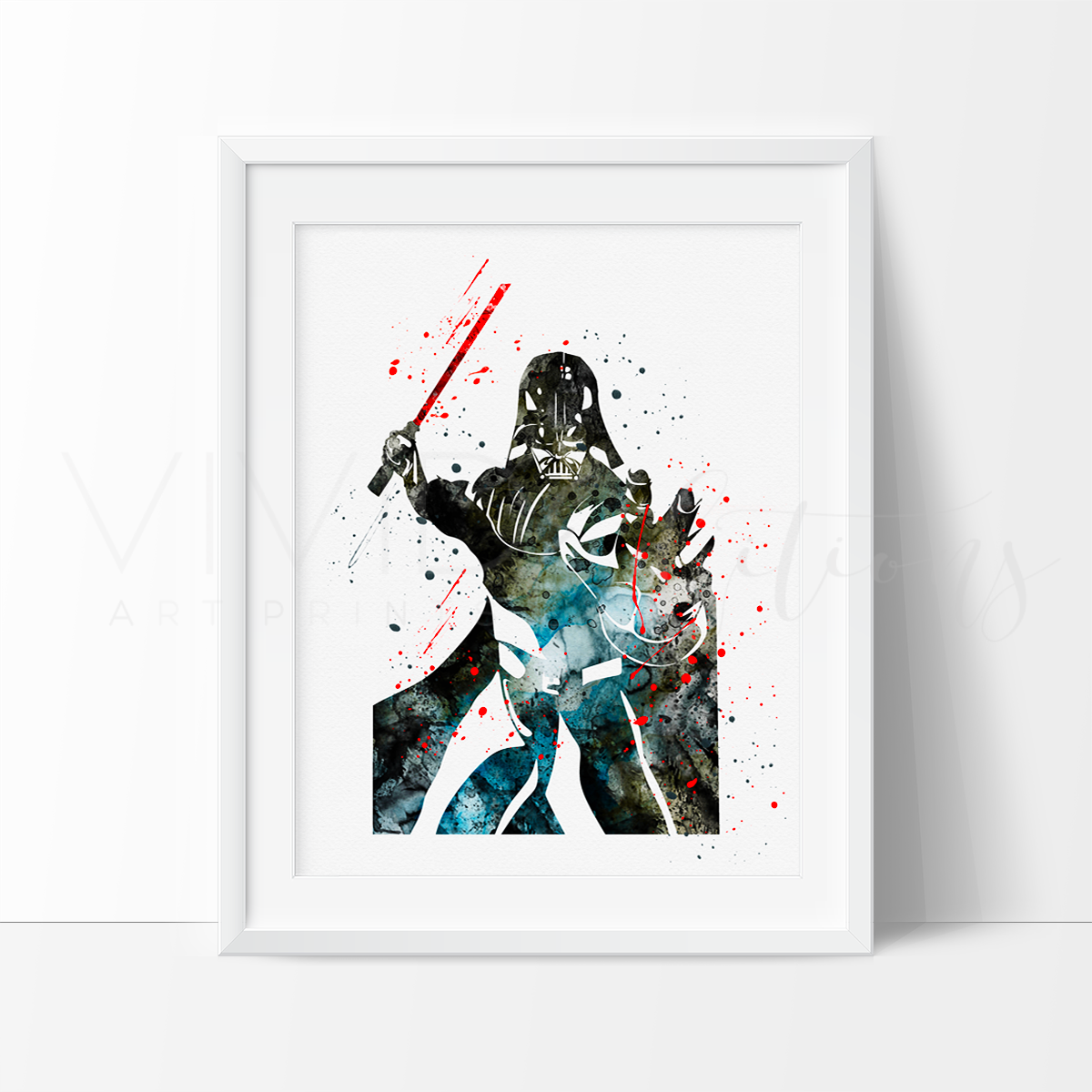 Darth Vader Watercolor Art Print Art Print - VIVIDEDITIONS