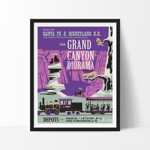 Grand Canyon Diorama, Disneyland Poster Art Print - VIVIDEDITIONS
