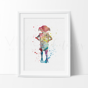 Dobby, Harry Potter Watercolor Art Print Art Print - VIVIDEDITIONS