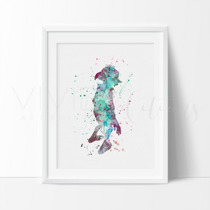 Dobby 2, Harry Potter Watercolor Art Print Art Print - VIVIDEDITIONS