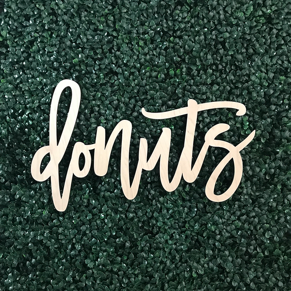 Donut Bar Sign, Wood or Acrylic Art Print - VIVIDEDITIONS