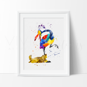 Dug & Kevin, Up Balloon House Watercolor Art Print Art Print - VIVIDEDITIONS