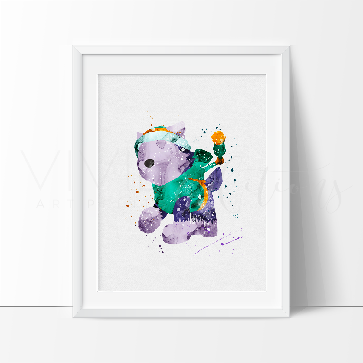 Everest, Paw Patrol Watercolor Art Print Art Print - VIVIDEDITIONS