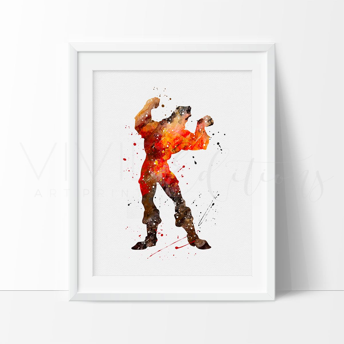 Gaston, Beauty and the Beast Watercolor Art Print Art Print - VIVIDEDITIONS