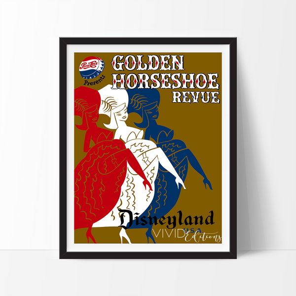 Golden Horseshoe, Disneyland Poster Art Print - VIVIDEDITIONS