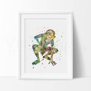 Gollum, Lord of the Rings Watercolor Art Print Art Print - VIVIDEDITIONS