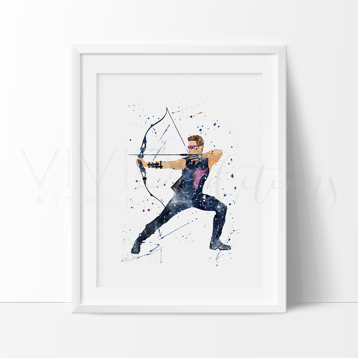 Hawkeye Watercolor Art Print Art Print - VIVIDEDITIONS