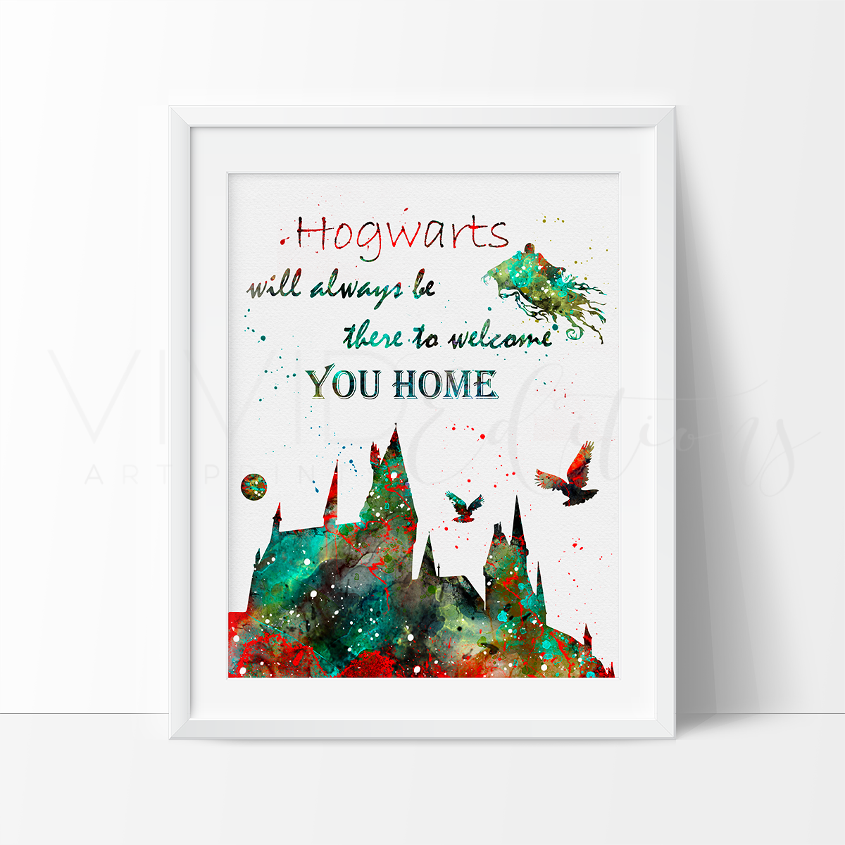Harry Potter Christmas Card Ideas.Hogwarts Quote Harry Potter Watercolor Art Print