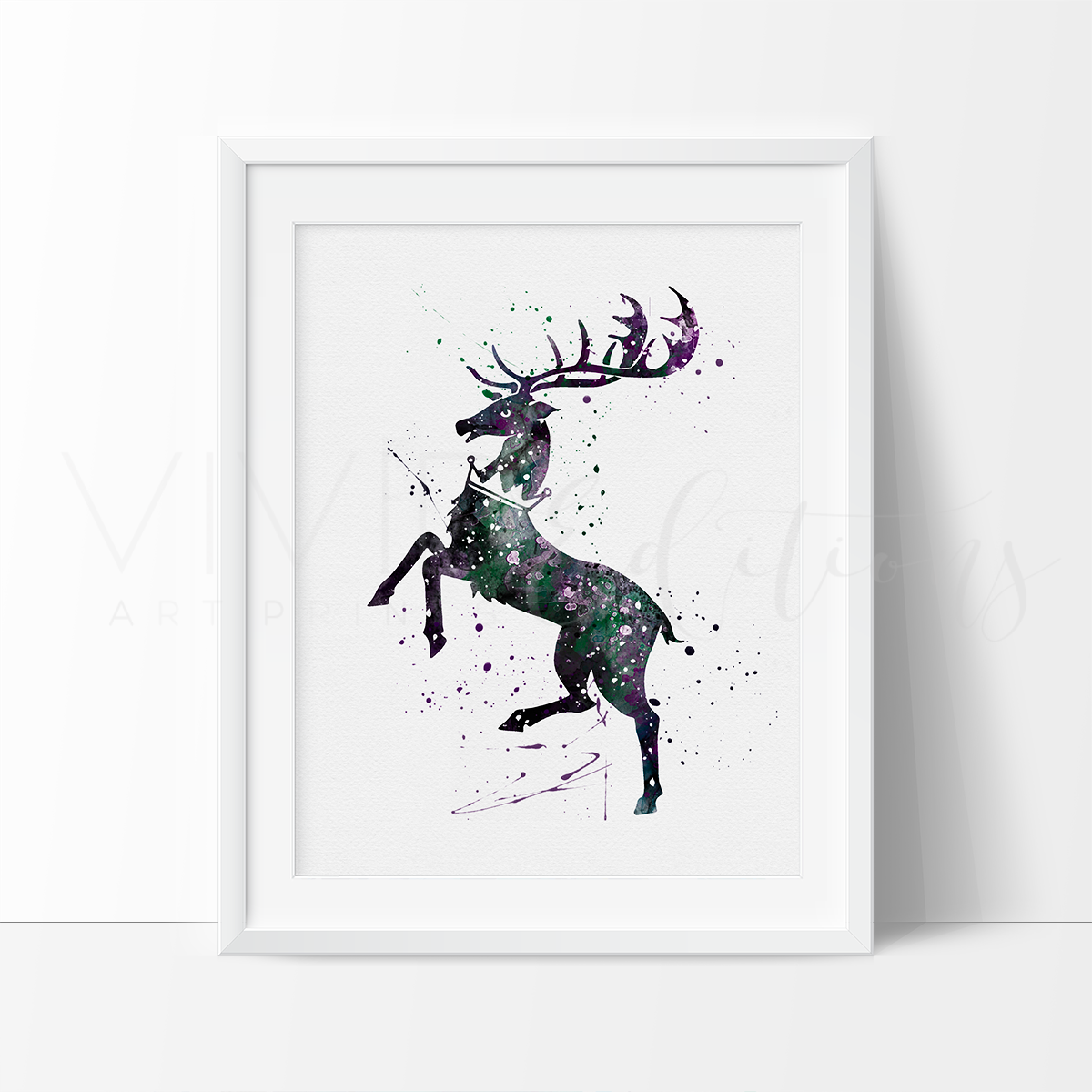 Game of Thrones, House Baratheon Watercolor Art Print Art Print - VIVIDEDITIONS