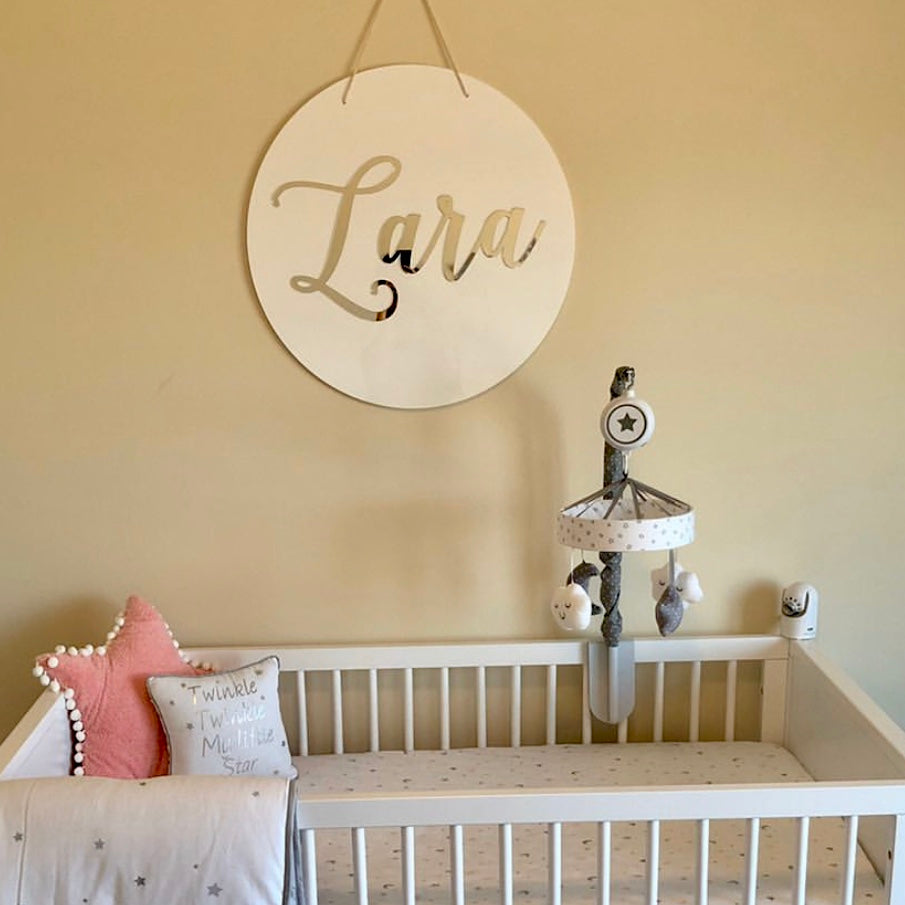 3D Acrylic Name Sign Wall Sign Hanging Wall Name Letters Nursery Decor Baby
