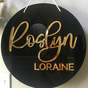 Round 3D Acrylic Name Sign