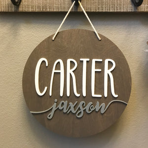 Round Handwritten 3D Acrylic Name Sign