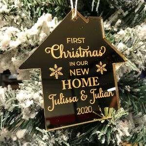 First Christmas New Home Personalized Ornament, Acrylic