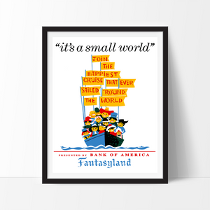 It's a Small World, Disneyland Poster Art Print - VIVIDEDITIONS
