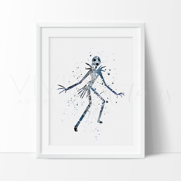 Jack Skellington Nightmare Before Christmas Nursery Art Print Wall Decor