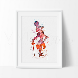 James Hook Watercolor Art Print Art Print - VIVIDEDITIONS