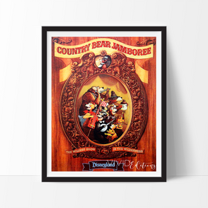 Country Bear Jamboree, Disney World Poster Art Print - VIVIDEDITIONS