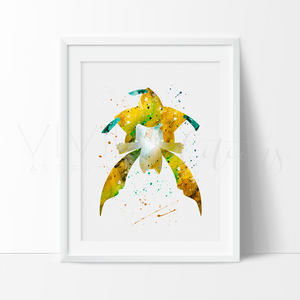 Jirachi, Pokemon Watercolor Art Print Art Print - VIVIDEDITIONS