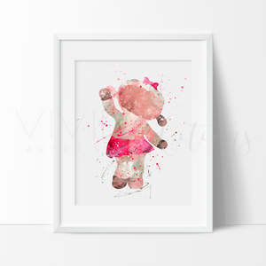 Lambie, Doc McStuffins Watercolor Art Print Art Print - VIVIDEDITIONS