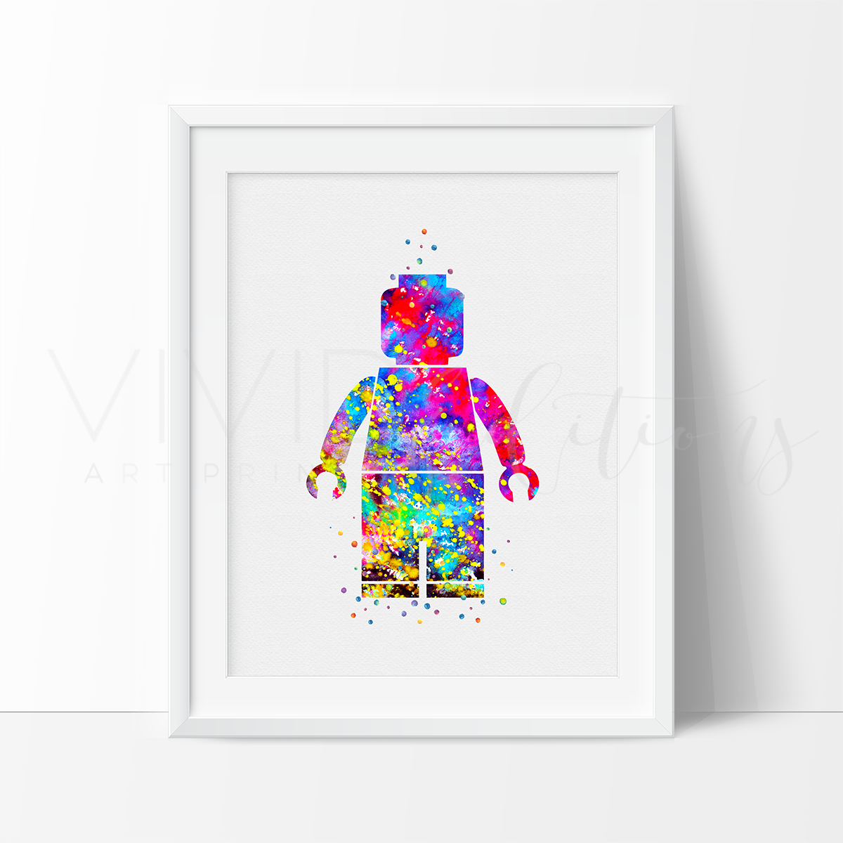 lego man nursery art print wall decor vivideditions. Black Bedroom Furniture Sets. Home Design Ideas