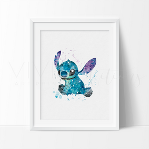 Lilo and Stitch Nursery Art Print Wall Decor