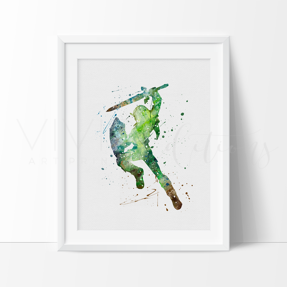 Link Watercolor Art Print Art Print - VIVIDEDITIONS