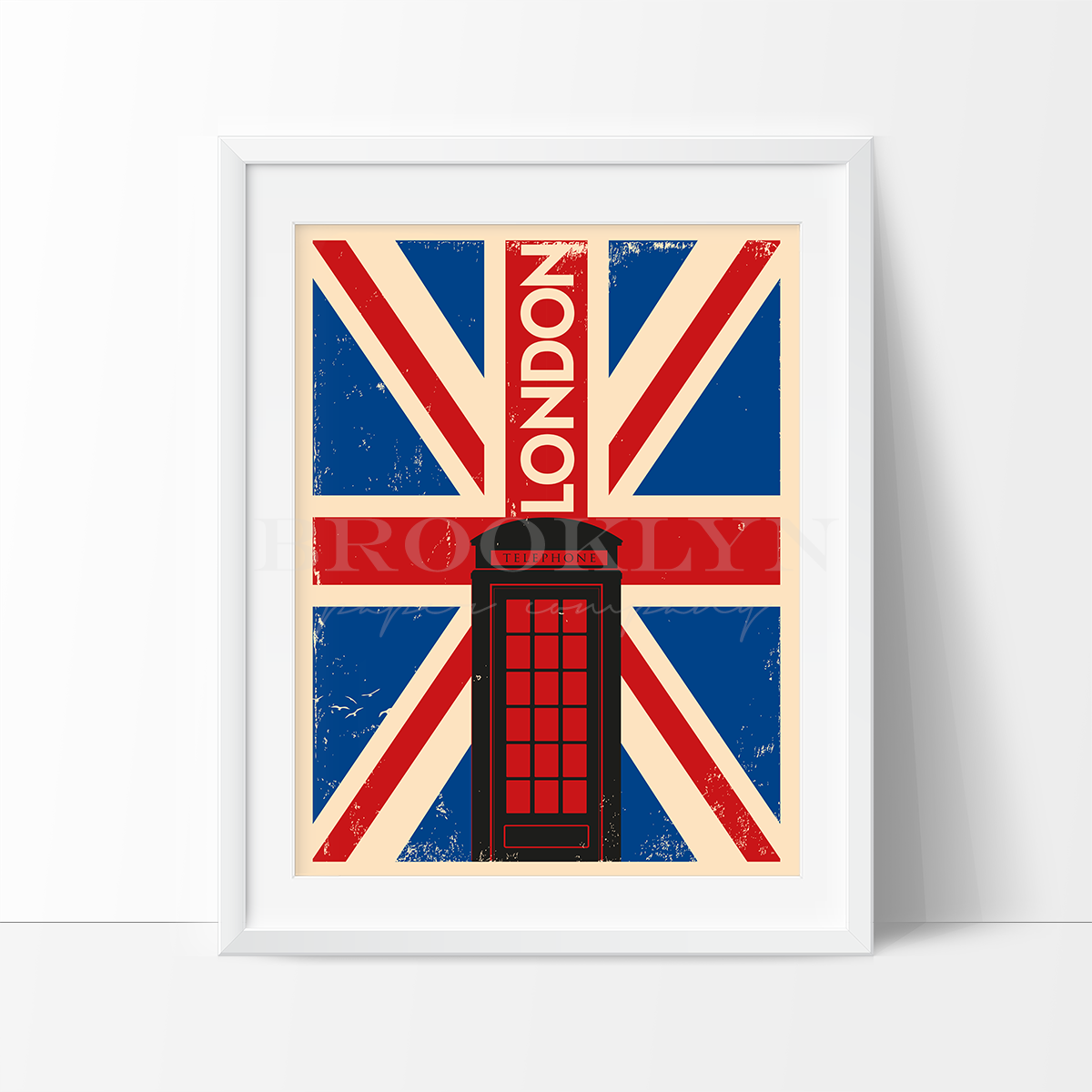 London Flag City Travel Poster Art Print - VIVIDEDITIONS