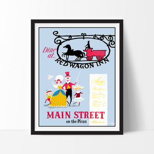 Main St. Red Wagon, Disneyland Poster Art Print - VIVIDEDITIONS