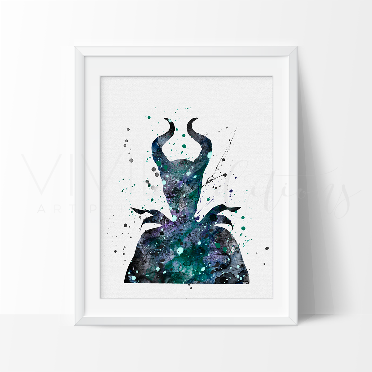 Maleficent 2 Watercolor Art Print Art Print - VIVIDEDITIONS
