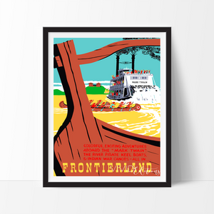 Mark Twain Frontierland, Disneyland Poster Art Print - VIVIDEDITIONS