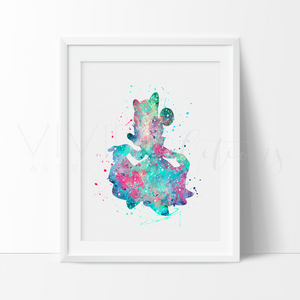 Minnie Mouse 3 Watercolor Art Print Art Print - VIVIDEDITIONS