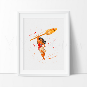 Moana Disney Watercolor Art Print