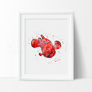 Nemo Watercolor Nursery Art Print Wall Decor