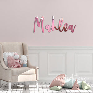 "24"" Rose Gold Personalized Name Sign Art Print - VIVIDEDITIONS"
